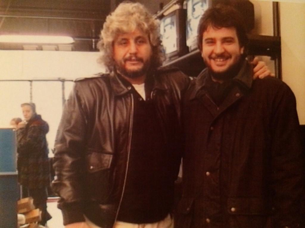 Luciano Linzi con Pino Daniele, a Milano