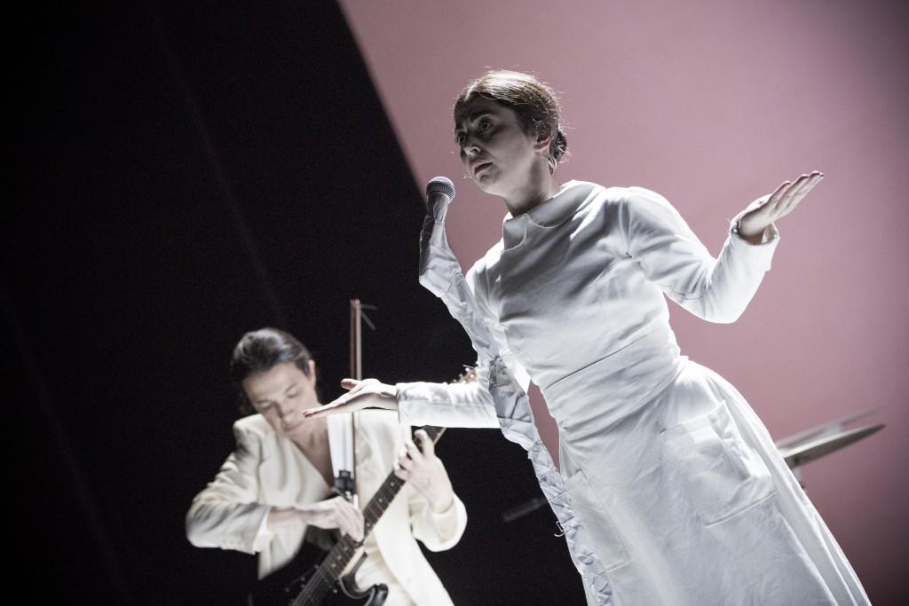 Con Elena Russo Arman (foto di Fabio Mantegna)