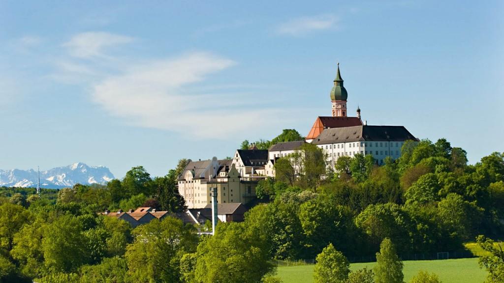 Il monastero di Andechs dove è nata l'omonima birra.