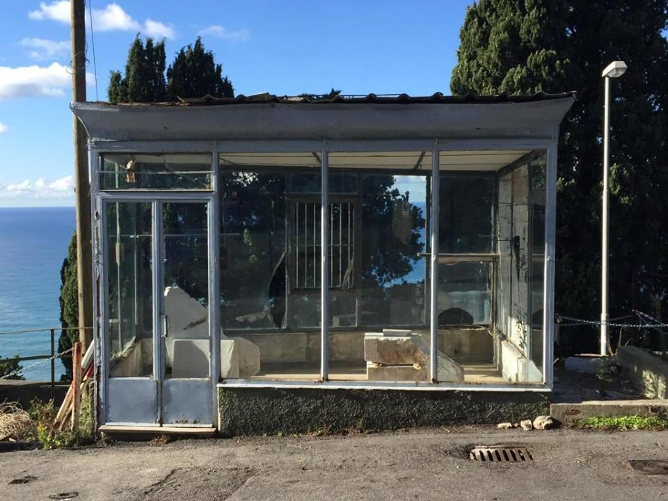 "Installation view Sant'Ilario Pavilion at THEVIEW Studio, October 2015. Daniel Gustav Cramer ""Untitled (Carrara)"""