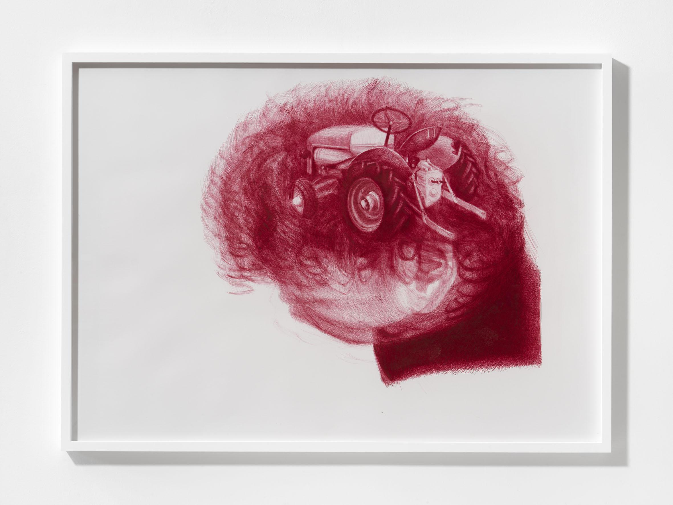 Diego Perrone Senza Titolo, 2016 Biro su carta 100 × 140 cm / 39 3/8 x 39 3/8 inches Foto di Alessandro Zambianchi Courtesy Massimo De Carlo, Milano/Londra/Hong Kong
