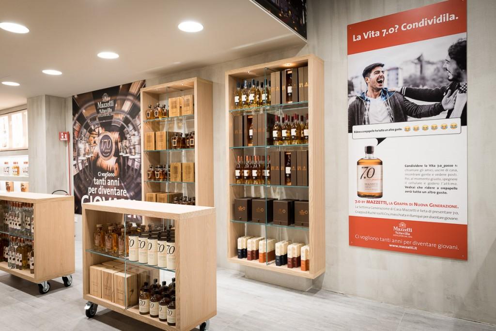 Il nuovo Grappa Store di Mazzetti