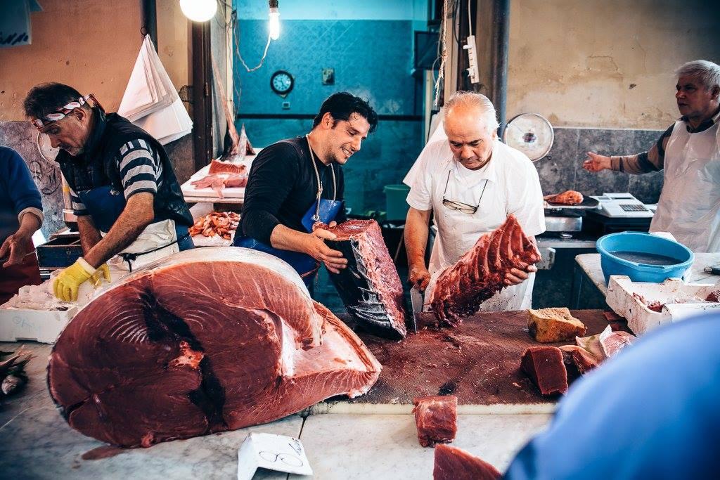 Il mercato del Capo a Palermo.
