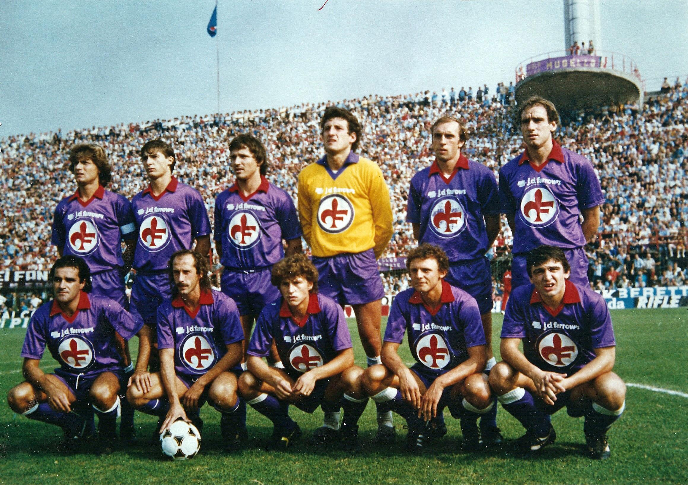 La Fiorentina 1981-82, vice campione di'Italia.