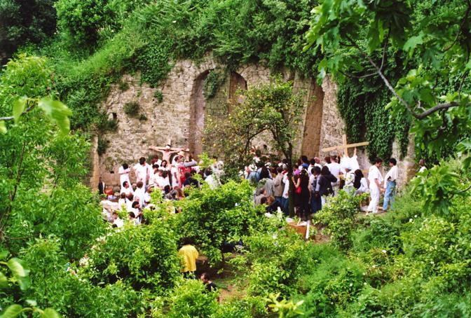 96 Aktion Hermann Nitsch, alla Vigna di San Martino. Courtesy Cibulka