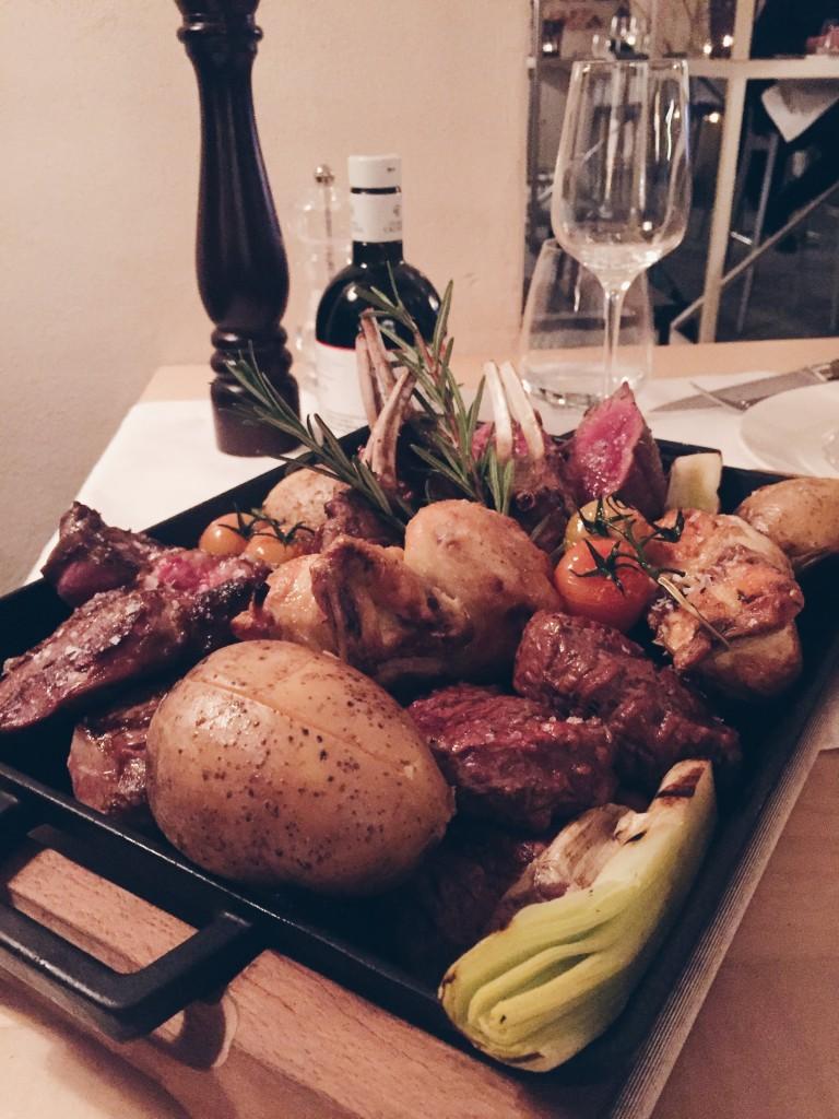 La degustazione di carne alla griglia