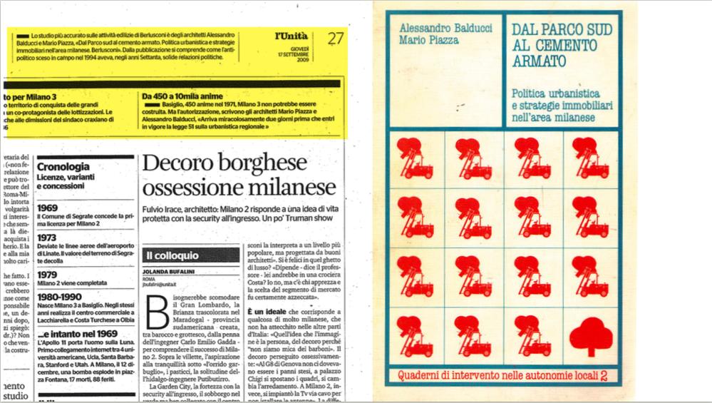 """Alessandro Balducci e Mario Piazza: """"Dal Parco Sud al cemento armato"""""""