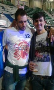 Con Giuliano Samoggia (Fortitudo)