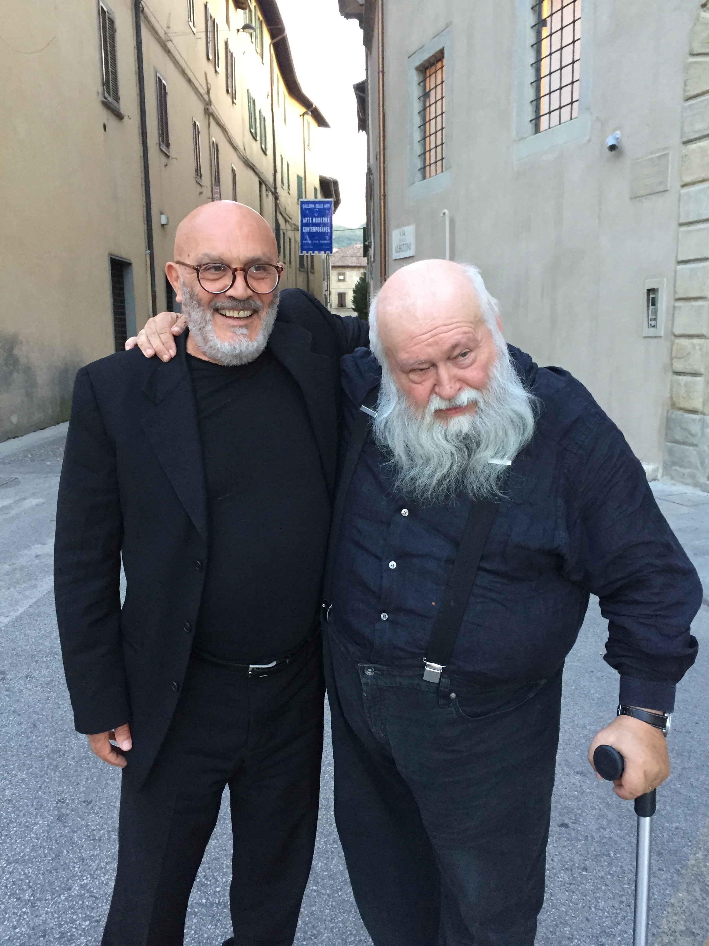 Peppe Morra con Hermann Nitsch
