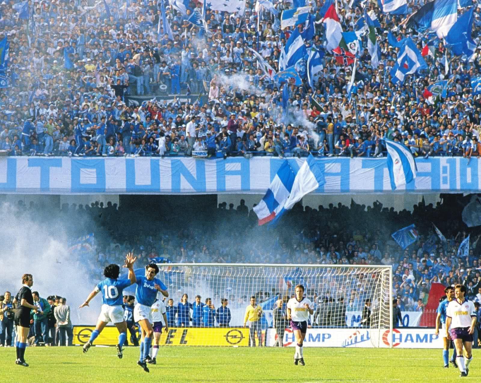 Il San Paolo di Napoli nell'era Maradona.