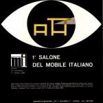 La prima locandina del Salone del Mobile, 1961. Già allora andava di moda il nero a Milano