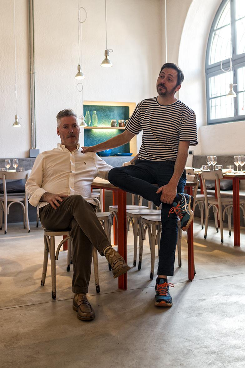 Gianluca ed Edo nel loro nuovo ristorante