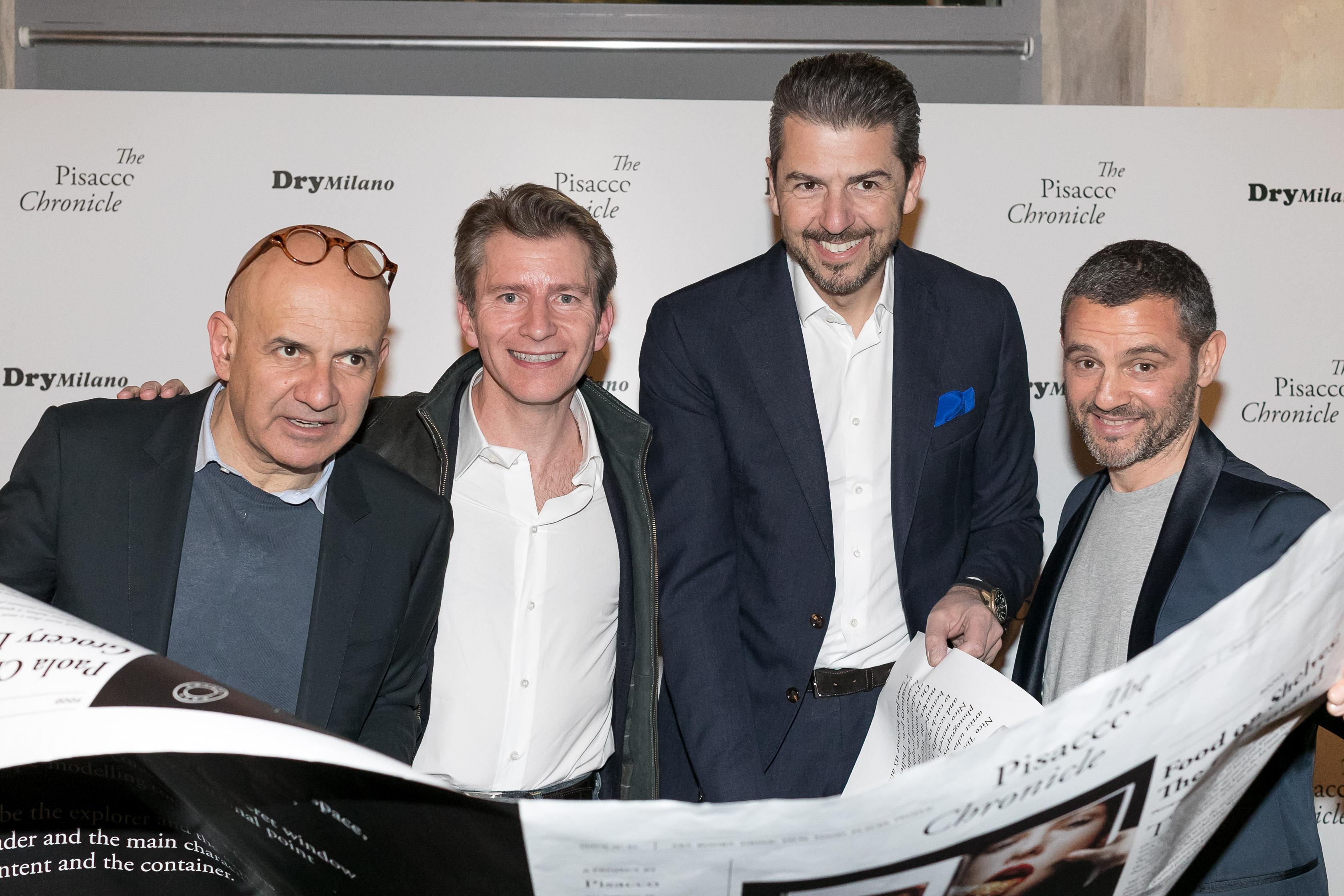 I soci del Dry. Da sinistra: Tiziano Vudafieri, Diego Rigatti, Andrea Berton e Giovanni Fiorin