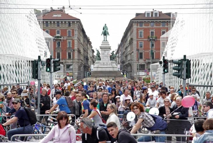 Cyclopride day milano piazza del cannone milano zero for Piazza del cannone
