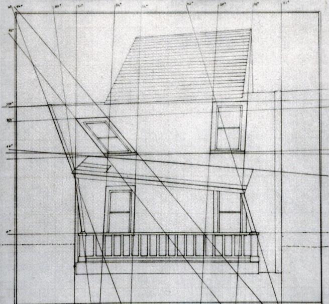 Gianni Colombo, studio sulla casa di Buster Keaton