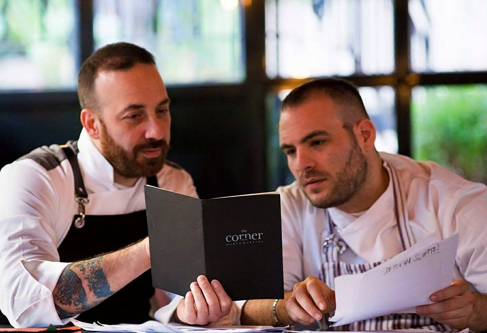 Daniele Gentili, Marco Martini e il menu del The Corner.