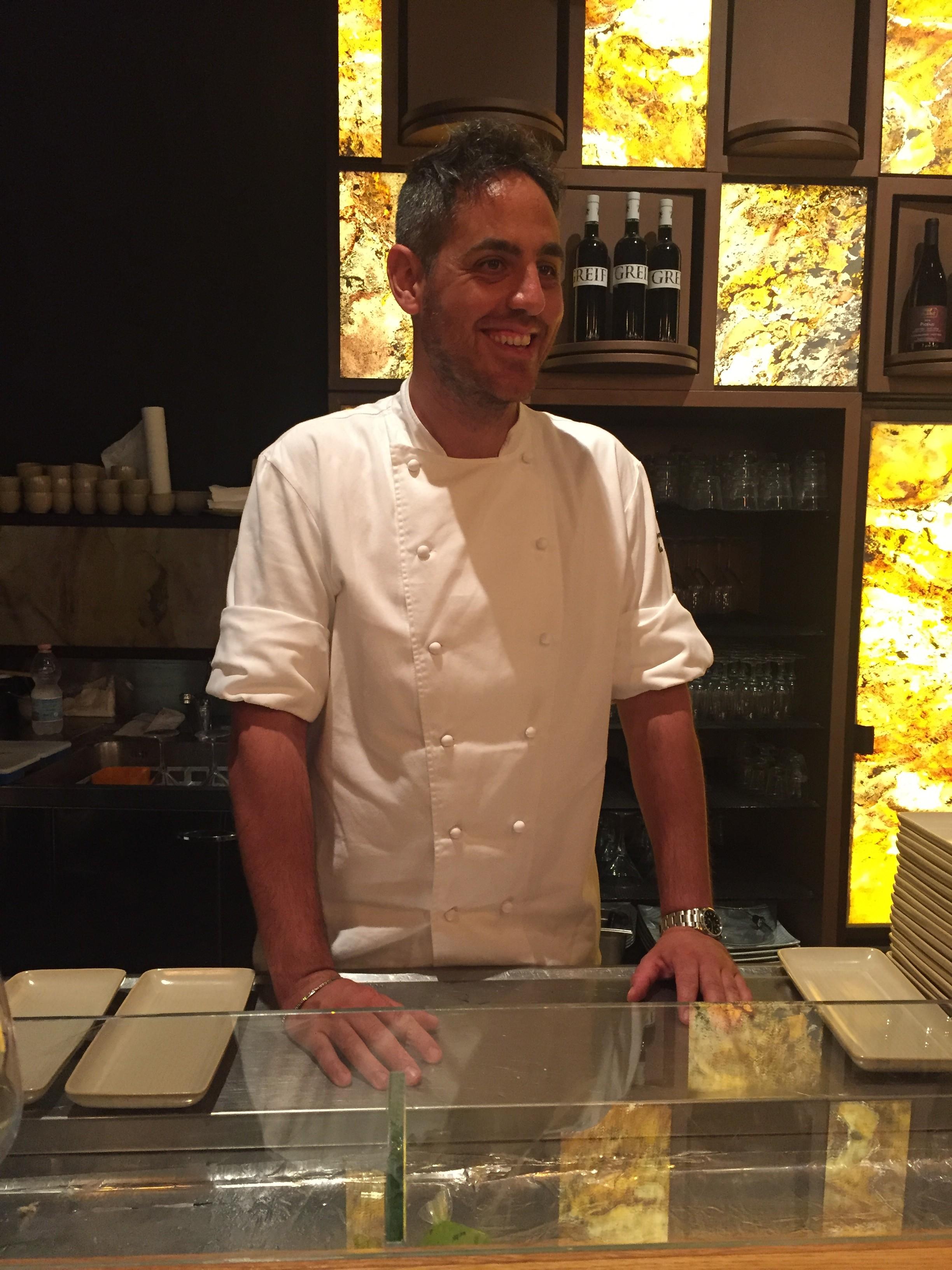 Lo chef Domenico Della Salandra