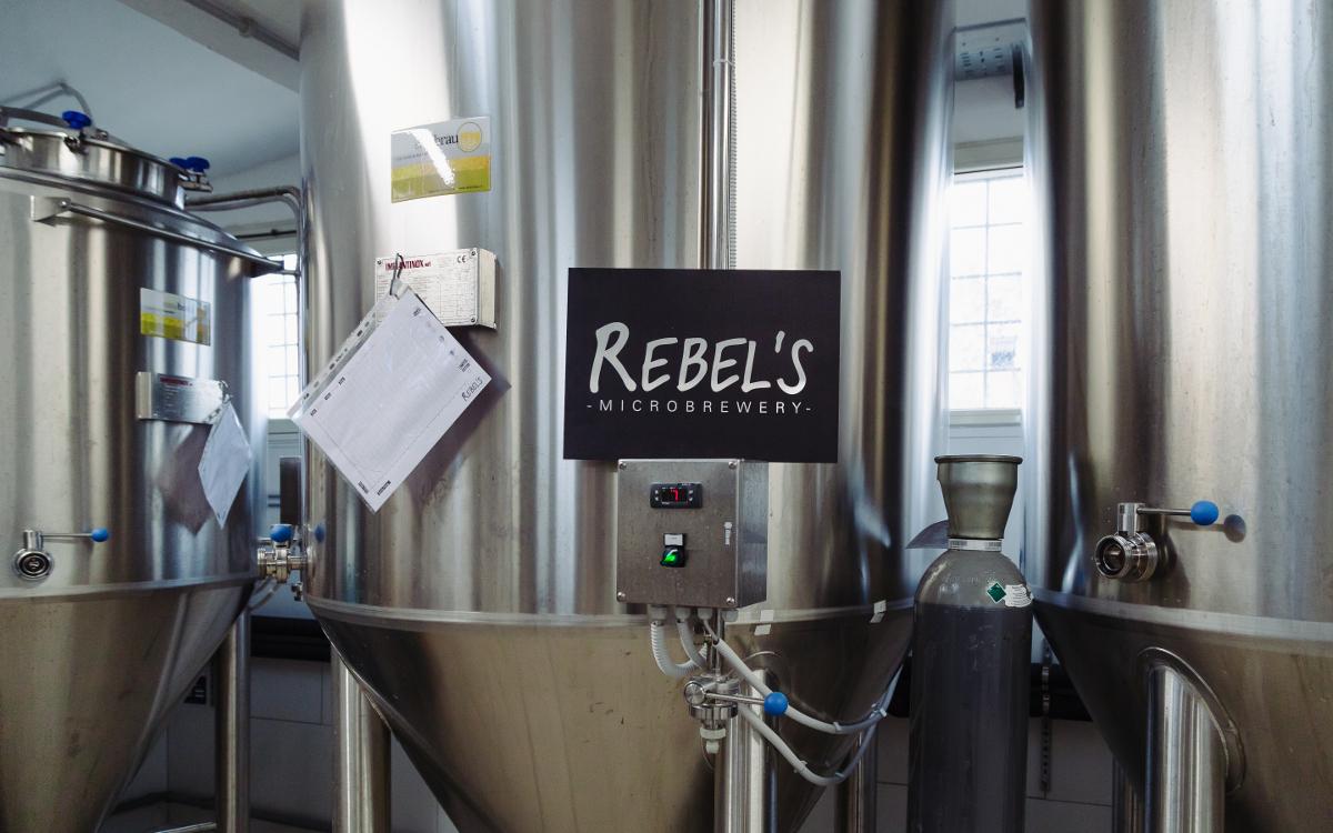 I macchinari del Birrificio Rebel's.