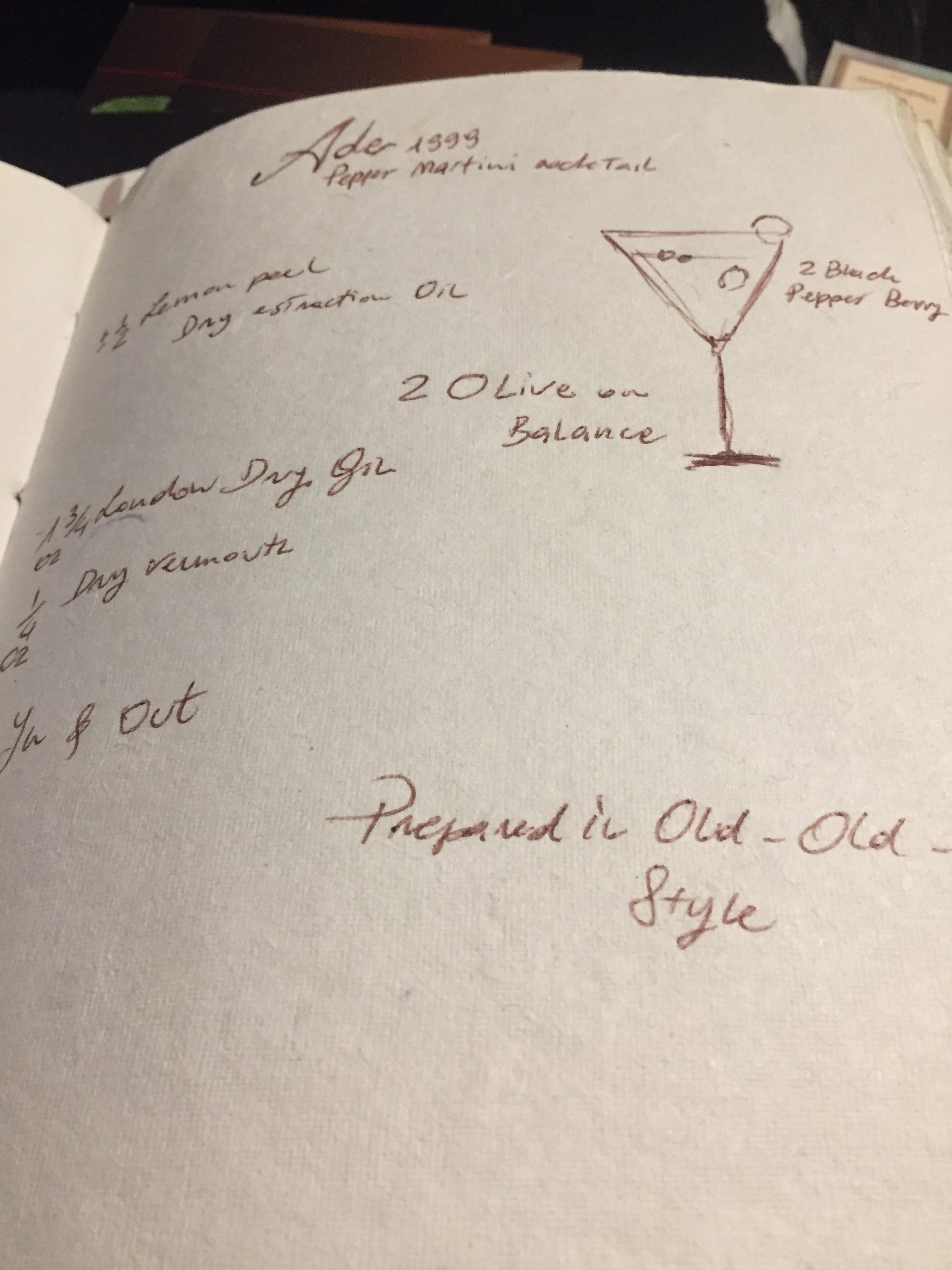 Gli studi di Terry sui cocktail