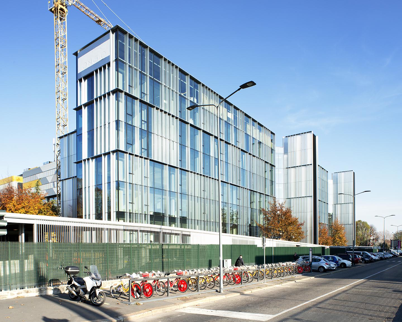 Via Chiese - palazzo per uffici - Cantiere novembre 2017 - Facciata sud-ovest
