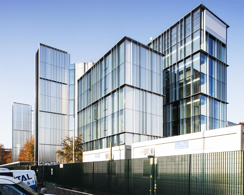 via Chiese- edificio per uffici- ristrutturazione- Facciata sud-ovest