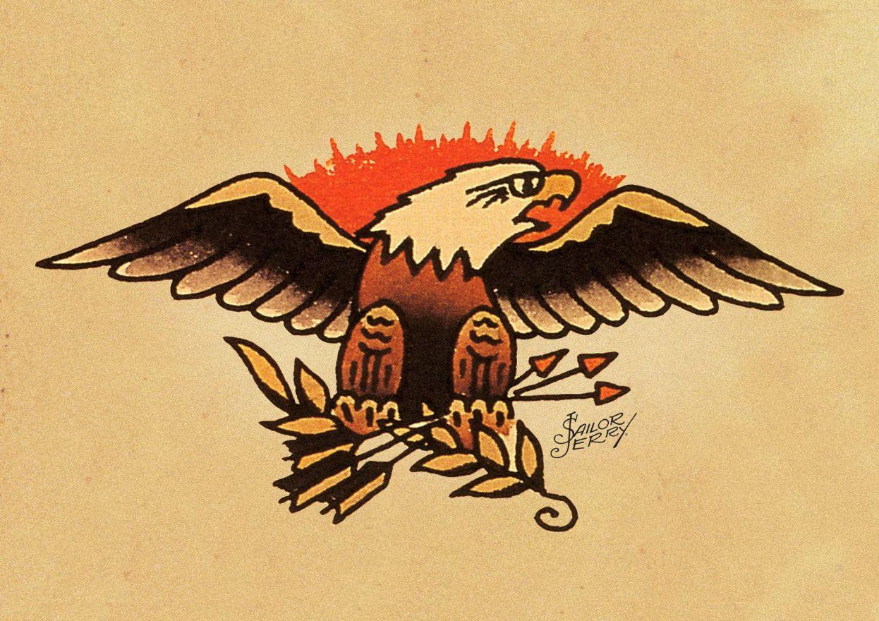 L'aquila americana, simbolo tradizionale dell'Old School
