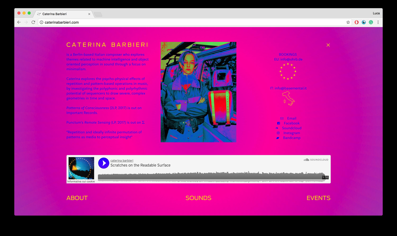Gluqbar Webdesign: Caterina Barbieri nuovo sito interattivo