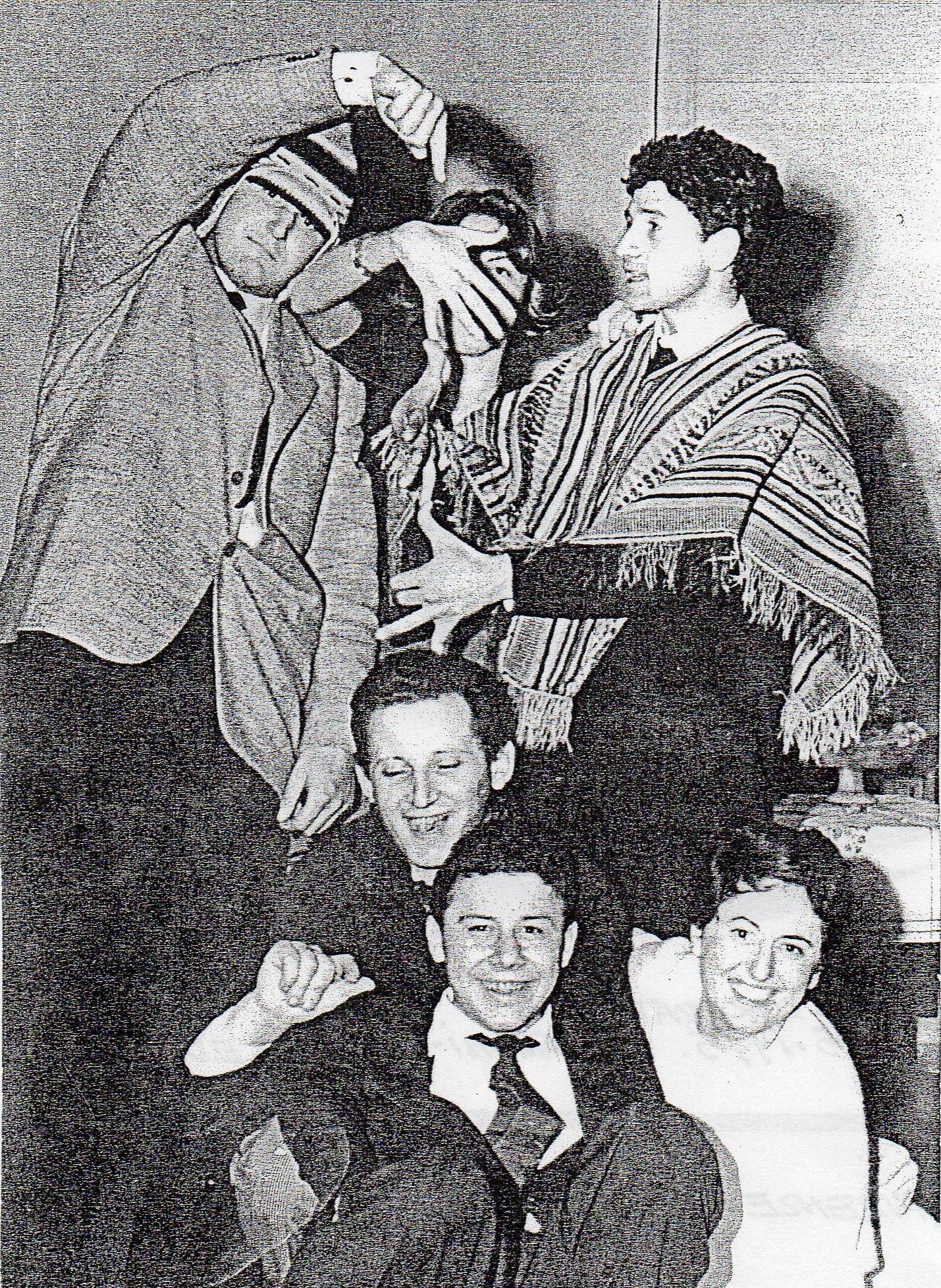 Rosanna Bianchi con Nanni Valentini, Pino Spagnulo, Marino Baitello con amici, Milano 1957/58