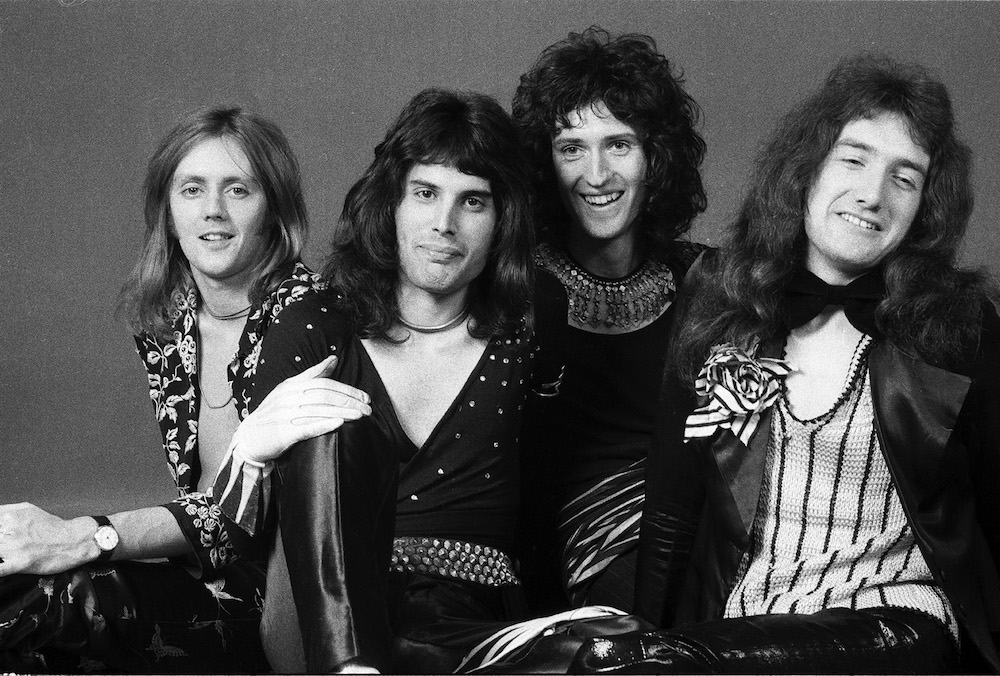 Roger Taylor, Freddie Mercury, Brian May, and john Deacon of Queen London 1973