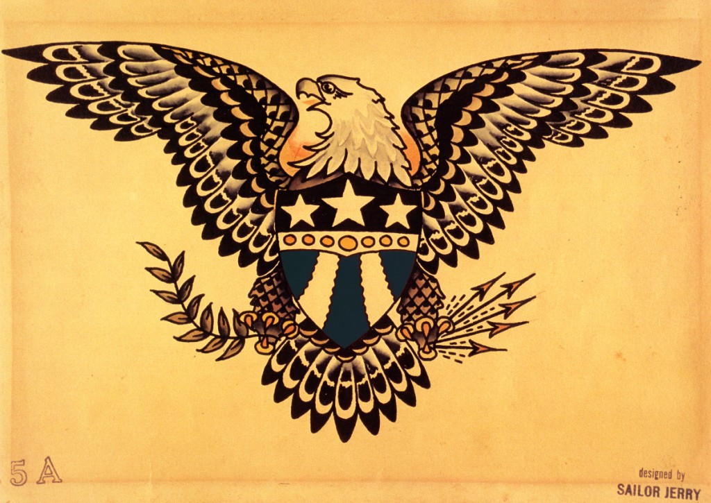 American Eagle. Disegno originale di Sailor Jerry.