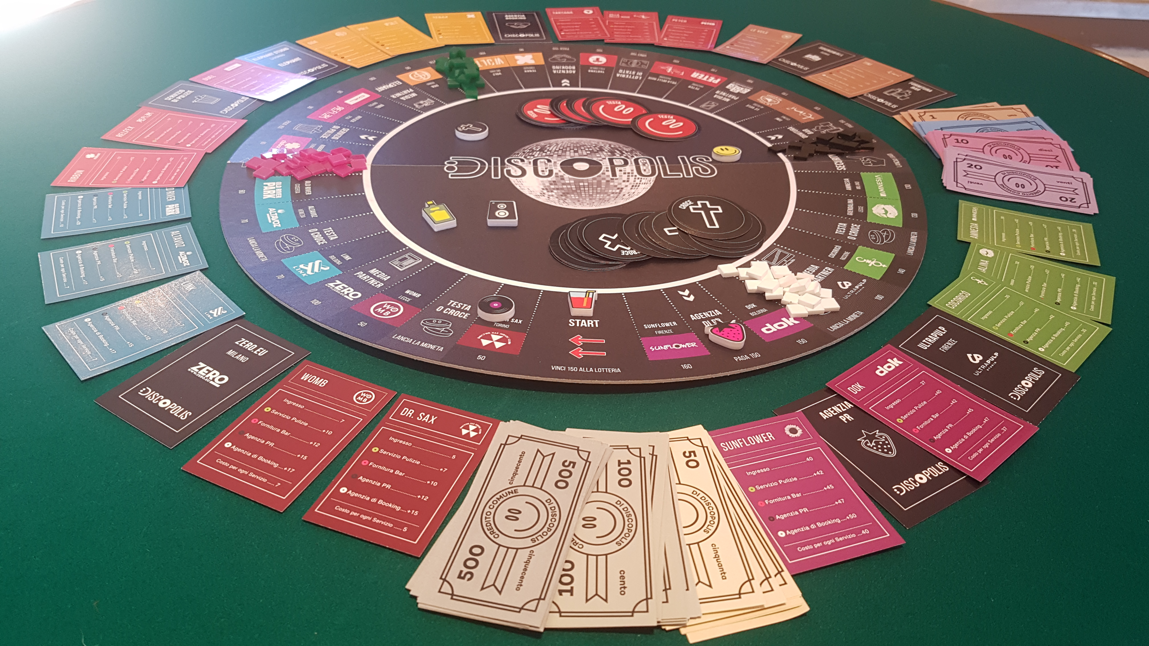 Tavoli Da Locali Pubblici : Discopolis il primo e unico gioco da tavolo delle discoteche zero