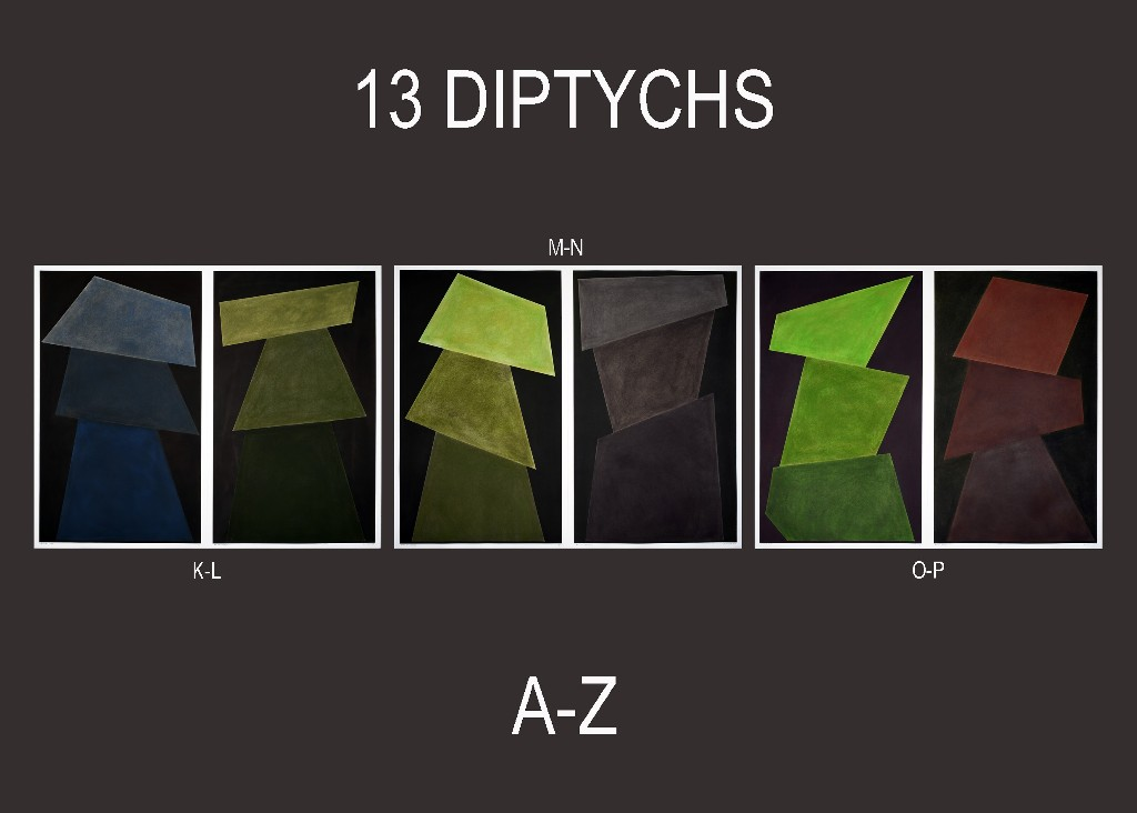 "David Tremlett – ""13 Diptychs / Room 5 – Wall Drawing"""