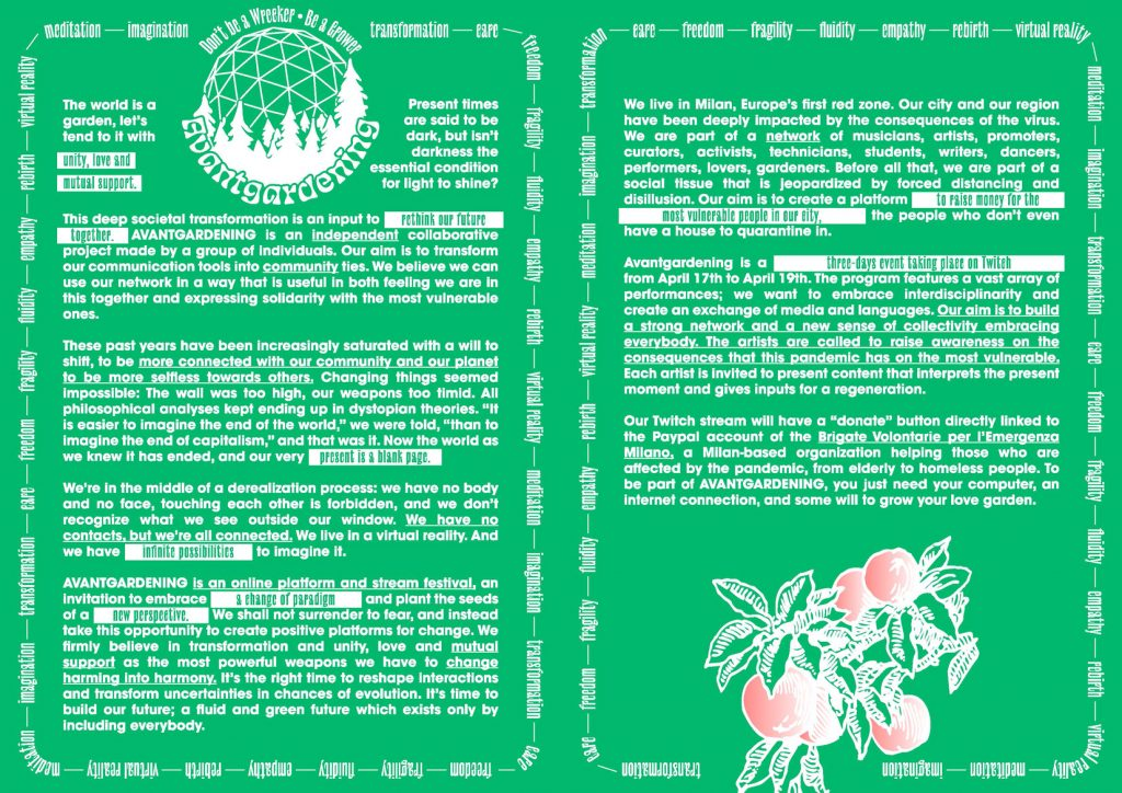 Il manifesto di Avantgardening