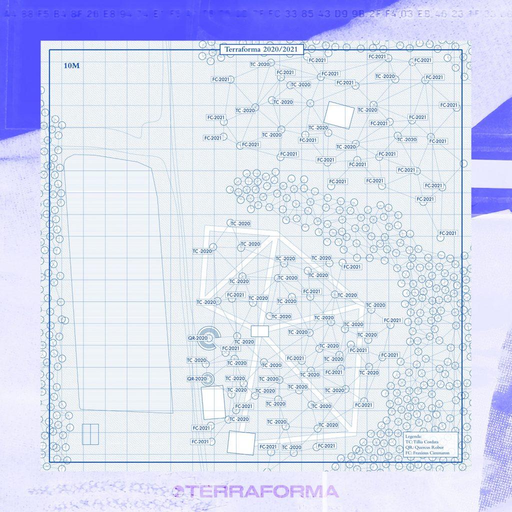 La mappa del progetto di riforestazione all'interno del Parco delle Groane