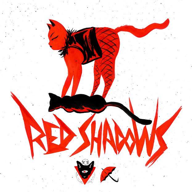 """La copertina di """"Red Shadows"""" disegnata dall'artista e attivista Double whY_Y"""